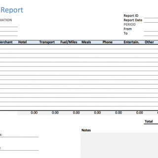 excel expense report