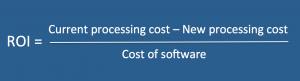 Expense software - ROI formula
